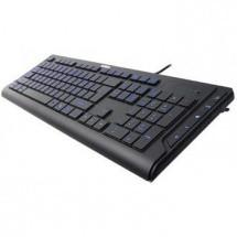 Drôtové klávesnice A4tech KD-600L multimediální USB CZ, černá ROZBALENO