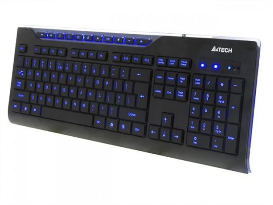 Drôtové klávesnice A4tech KD-800L multimediálna USB CZ, čierna