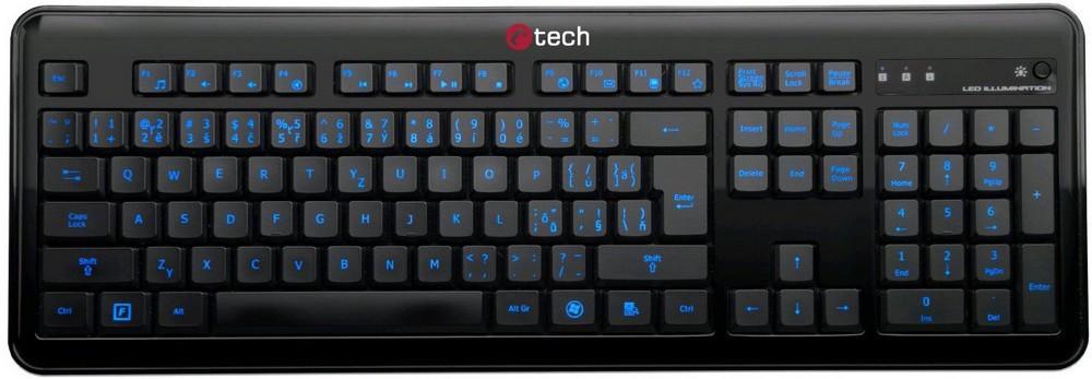Drôtové klávesnice C-Tech OBK-04