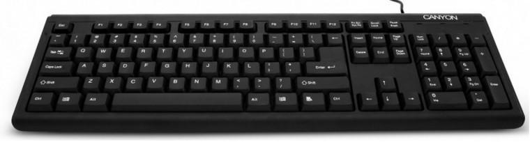 Drôtové klávesnice Canyon CNR-KEYB01 ultra slim USB, černá