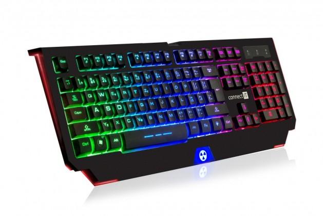Drôtové klávesnice CONNECT IT CI-1129 Battle Rnbw, černá, CZ