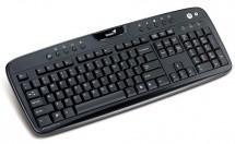 Drôtové klávesnice Genius KB-220e USB CZ+SK, černá ROZBALENO