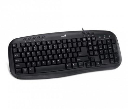 Drôtové klávesnice Genius KB-M200 CZ+SK čierna