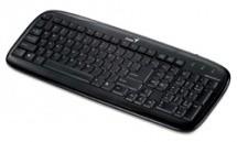 Drôtové klávesnice Genius Slimstar 110 PS/2 CZ+SK, černá ROZBALENO