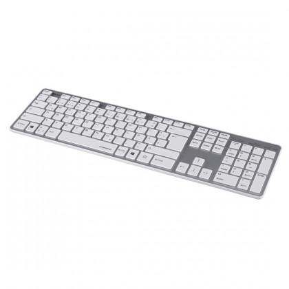 Drôtové klávesnice Hama klávesnice Rossano, bíla/stříbrná
