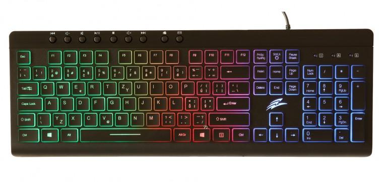 Drôtové klávesnice Herná klávesnica EVOLVEO GK640, podsvietená, čierna