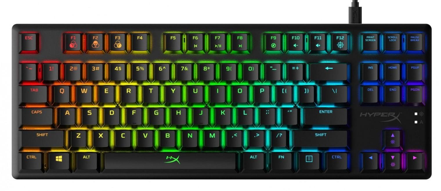 Drôtové klávesnice Herná klávesnica HyperX Alloy Origins Core AQUA Switches, US