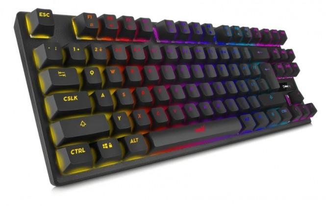 Drôtové klávesnice Herná klávesnica Niceboy ORYX K300X, CZ, čierna