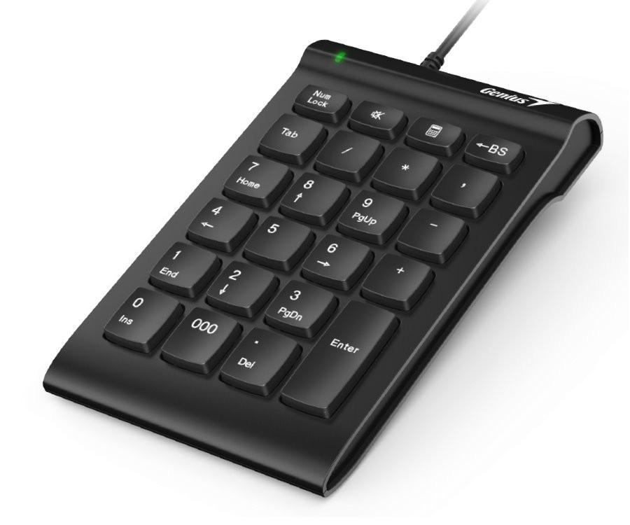 Drôtové klávesnice Klávesnica Genius NumPad i130, numerická, čierna