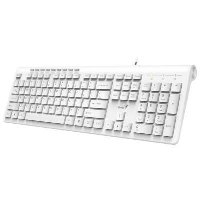 Drôtové klávesnice Klávesnica Genius Slimstar 230, CZ/SK, drôtová, biela