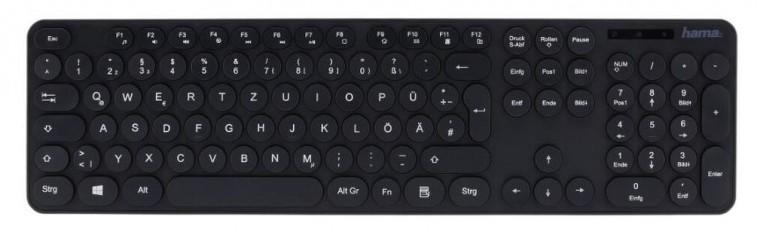 Drôtové klávesnice Klávesnica Hama KC-500, okruhlé tlačidla, CZ/SK, čierna