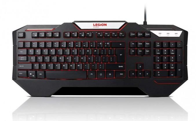 Drôtové klávesnice Klávesnica Lenovo Legion K200, SK, herná, podsvietená, čierna