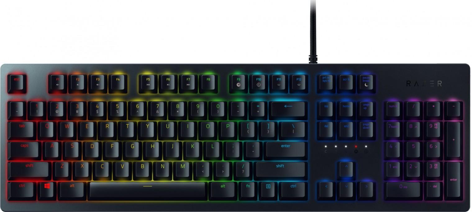 Drôtové klávesnice Klávesnica Razer Huntsman, opto-mechanické spínače, US, čierna