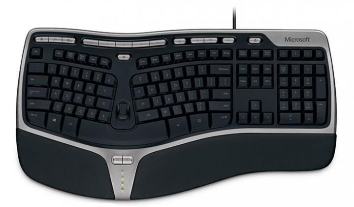 Drôtové klávesnice Microsoft Natural Ergonomic Keyboard 4000 USB (B2M-00023),čierna