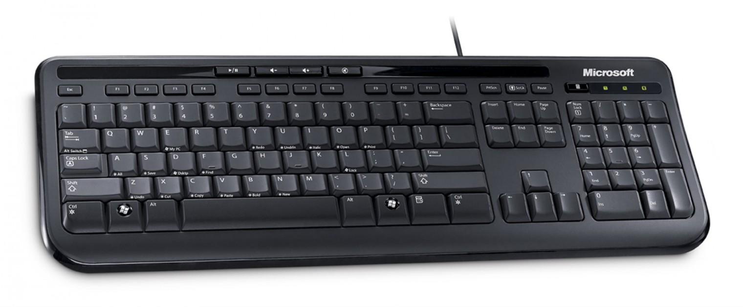 Drôtové klávesnice Microsoft Wired Keyboard 600 (ANB-00020), čierna
