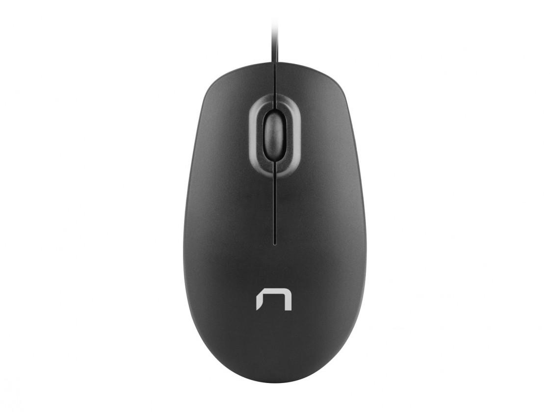 Drôtové myši Drôtová myš Natec Hawk, 1000 DPI, čierna