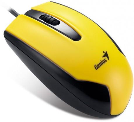 Drôtové myši Genius DX-100 žltá