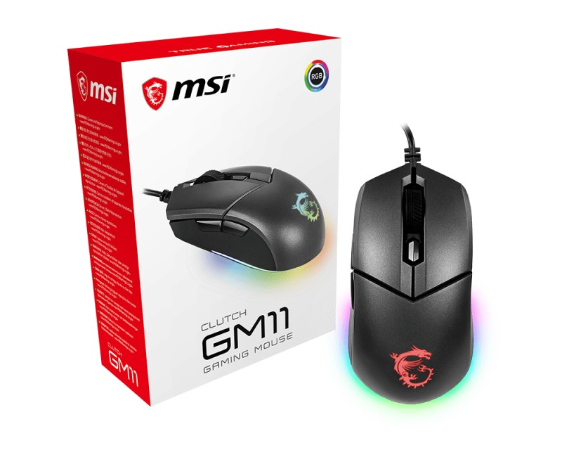 Drôtové myši Herná myš MSI CLUTCH GM11, 5000 DPI