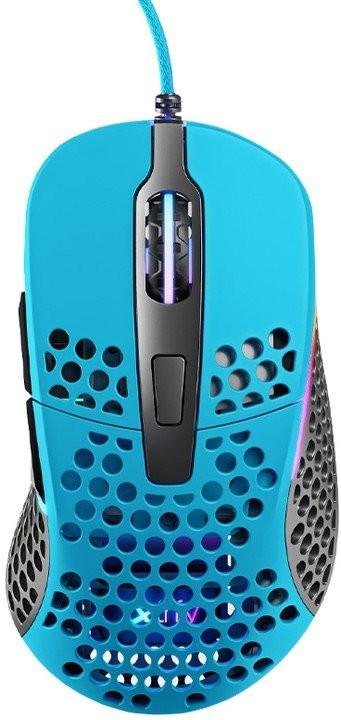 Drôtové myši Herná myš Xtrfy M4 RGB, 16 000 dpi, modrá