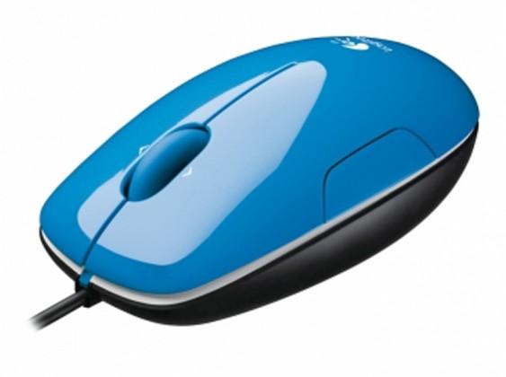 Drôtové myši Logitech LS1, modrá