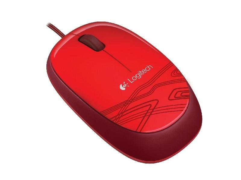Drôtové myši Logitech M105, červená