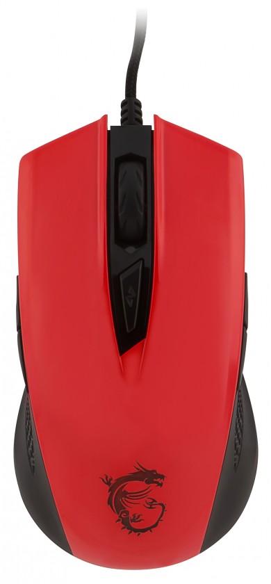 Drôtové myši MSI Clutch GM40, červená S12-0401360-D22