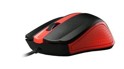 Drôtové myši Myš C-TECH WM-01 červená MYSCT3222