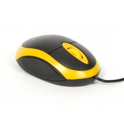 Drôtové myši Omega OM-06, žltá