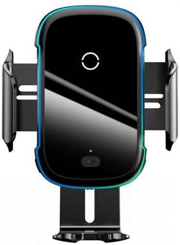 Držiak na mobil s bezdrôtovým nabíjaním Baseus, 15 W, čierny