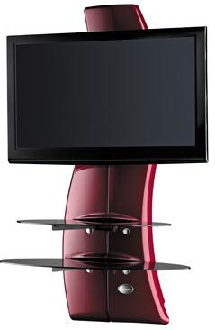 Držiak televízie MELICONI GHOST, VESA max 400x400,30kg, červený