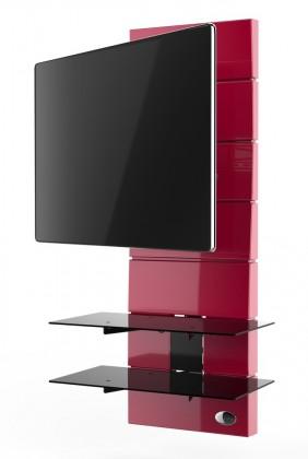 Držiaky TV Držiak televízie MELICONI GHOST, VESA max 400x400, 30kg, červený