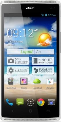 Dual SIM telefón Acer Liquid Z5 biely