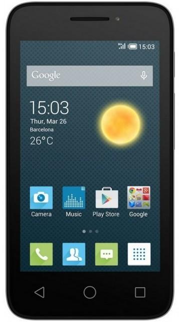 Dual SIM telefón ALCATEL ONETOUCH 4013D PIXI 3 (4) Silver