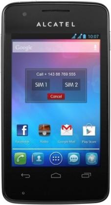 Dual SIM telefón  ALCATEL ONETOUCH 4030D S´POP Raven Black