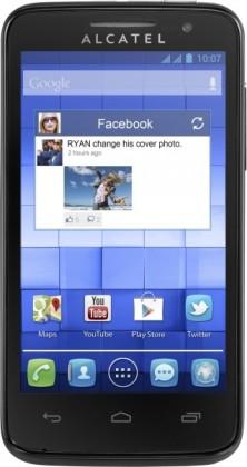 Dual SIM telefón ALCATEL ONETOUCH 5020D M´POP Pure Black