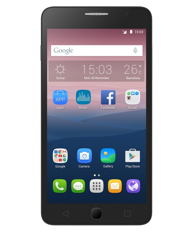 Dual SIM telefón ALCATEL ONETOUCH 5022D POP STAR Black, 3 kryty
