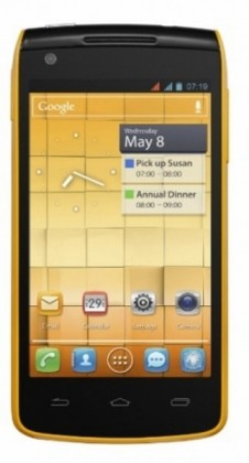 Dual SIM telefón ALCATEL ONETOUCH 992D Yellow