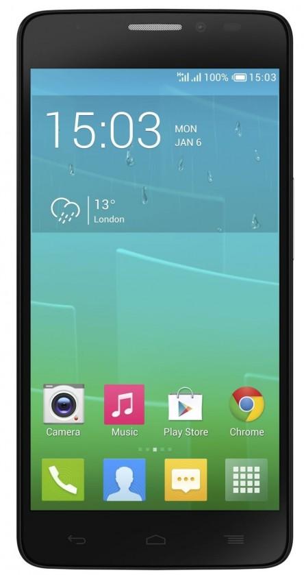 Dual SIM telefón ALCATEL ONETOUCH IDOL X+ (6043D) Black