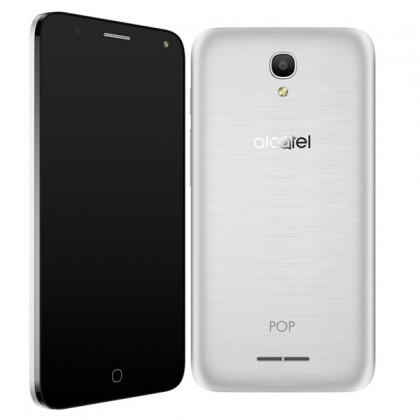 Dual SIM telefón Alcatel OT-5051D POP 4, strieborná