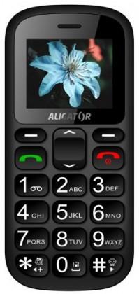 Dual SIM telefón Aligator A321 Senior, šedo-čierna