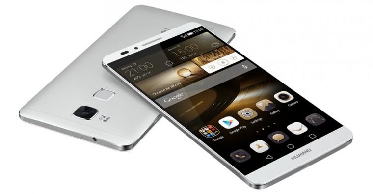 Dual SIM telefón HUAWEI Mate 7 Silver