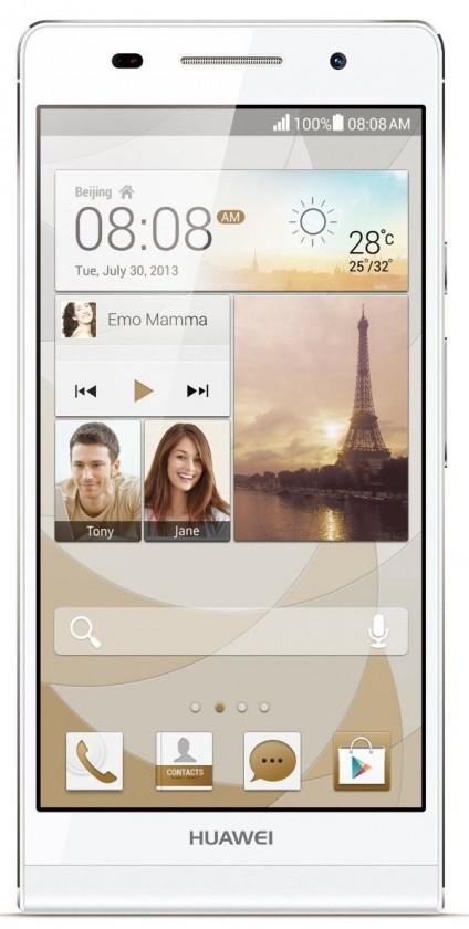 Dual SIM telefón HUAWEI P7 White