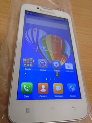 Dual SIM telefón Lenovo A328 DualSIM biely POUŽITÝ, NEOPOTREBENÝ TOVAR