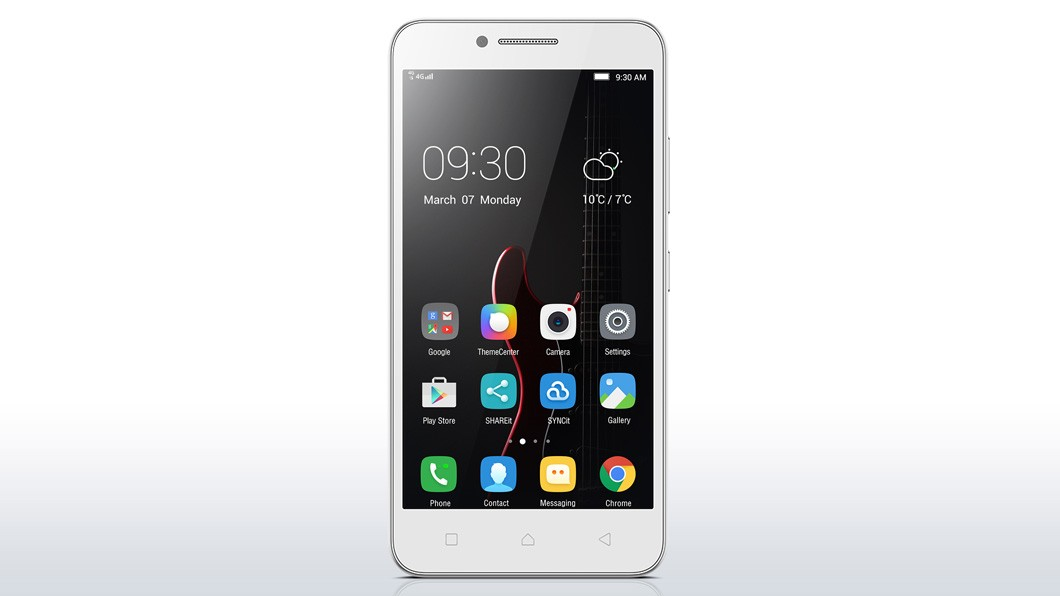 Dual SIM telefón Lenovo Vibe C biela