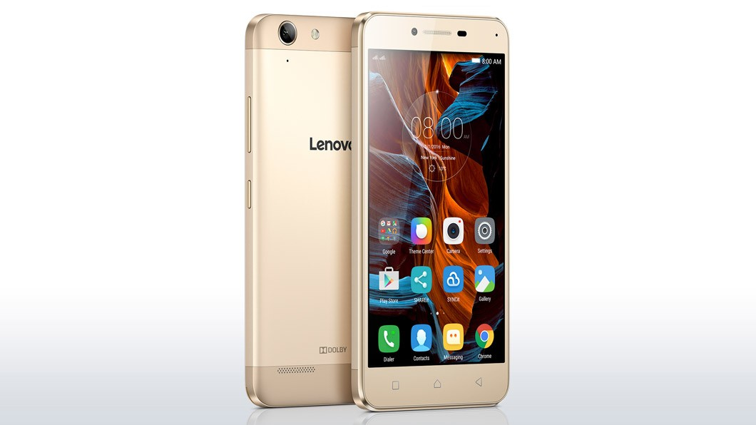 Dual SIM telefón Lenovo Vibe K5 Plus zlatá