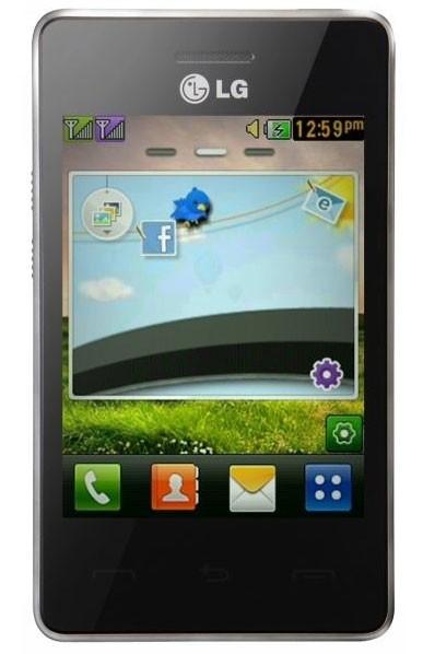 Dual SIM telefón  LG T375 T3 dual SIM Black