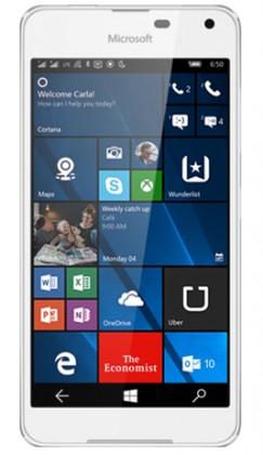 Dual SIM telefón Microsoft Lumia 650 Dual SIM, biela