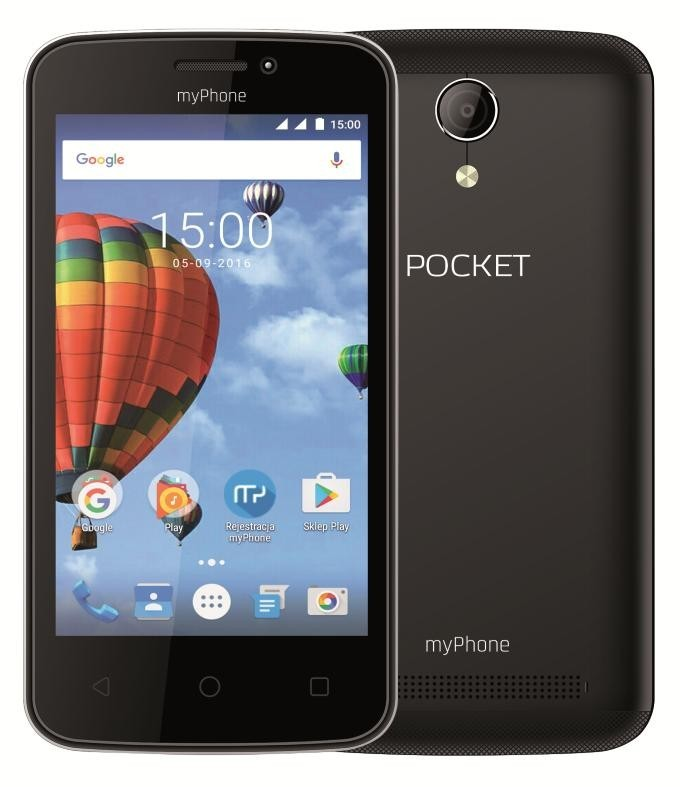 Dual SIM telefón myPhone POCKET, čierna