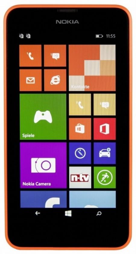 Dual SIM telefón Nokia Lumia 630 (Dual SIM) Bright Orange + Black zadný kryt