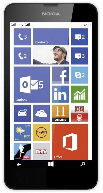 Dual SIM telefón Nokia Lumia 630 (Dual SIM) White + Black zadný kryt ROZBALENO